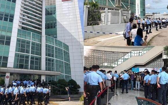 港媒:百名港警搜查壹传媒总部大楼 集团通知不上班