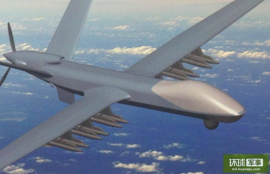 """资料图:""""翼龙2""""展示强大挂弹能力 来源:环球网"""