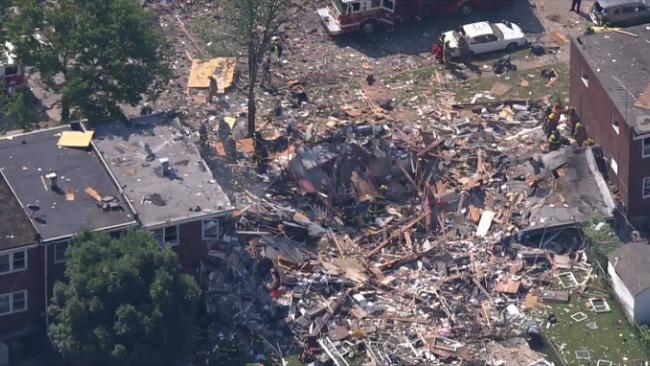 美国巴尔的摩发生大爆炸 多座房屋被夷为平地