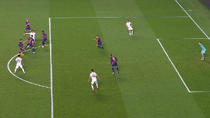 GIF:莱万推空门,但穆勒接球前处于越位位置,进球无效