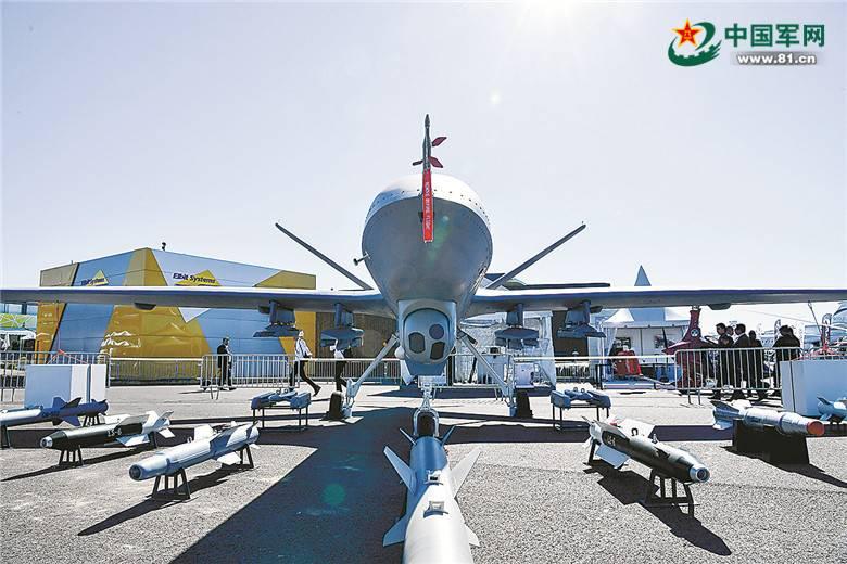 """资料图:""""翼龙2""""无人机挂弹能力强大 来源:中国军网"""
