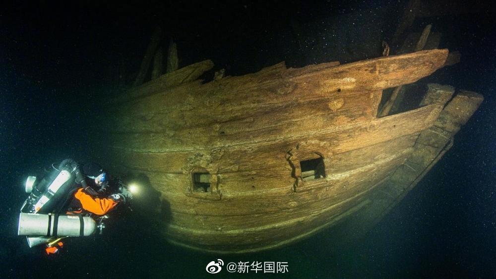 【永济网】_芬兰湾海底发现一艘保存完好的17世纪沉船