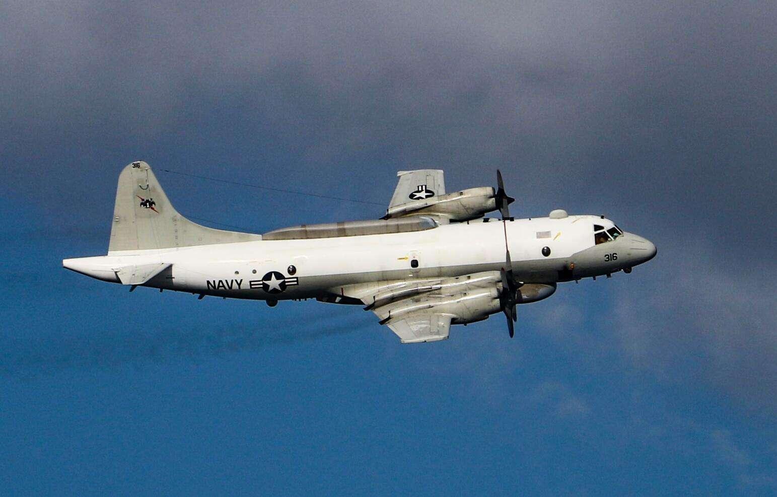 图为频繁闯入南海的美军EP-3E侦察机