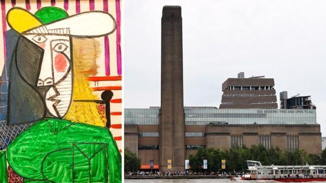 畢加索名畫《女子半身像》在泰特現代藝術館被毀壞。