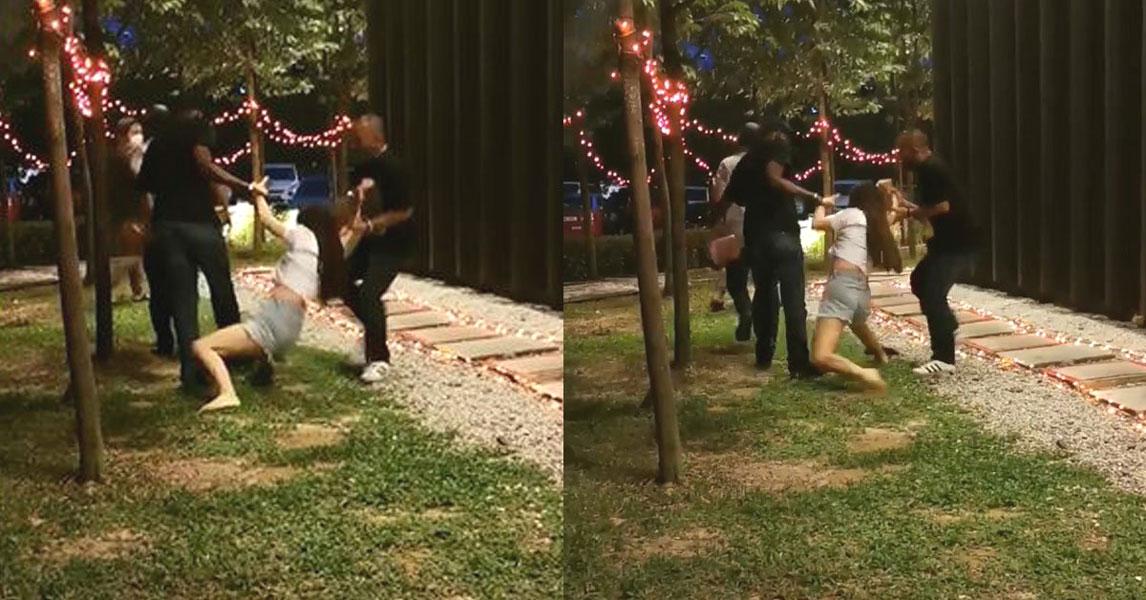 【百度快猫网址点击器】_中国女子在马来西亚遇抢劫 喝茶时被三男子当街拖走