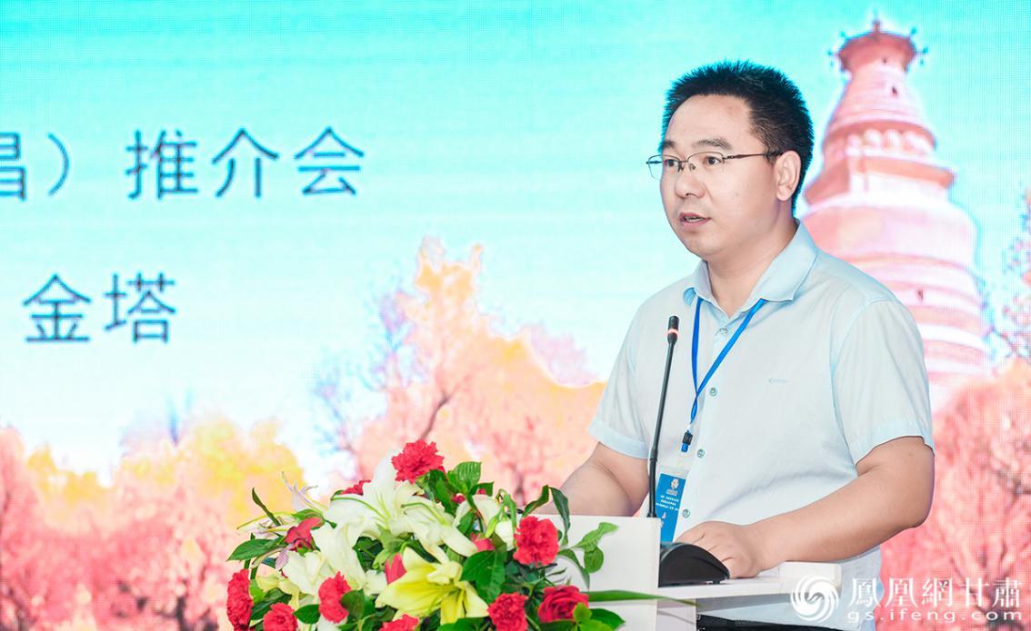 金昌市文旅局党组成员、副局长王振德致辞 杨艺锴 摄