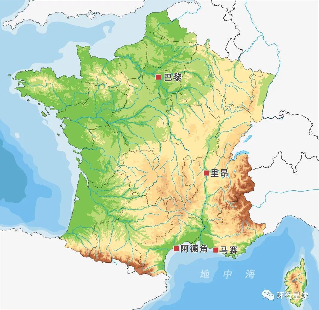 阿德角裸体村在法国的位置 制图:孙绿