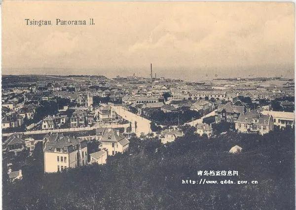 20世纪初青岛市区俯瞰 图片来源:青岛档案馆