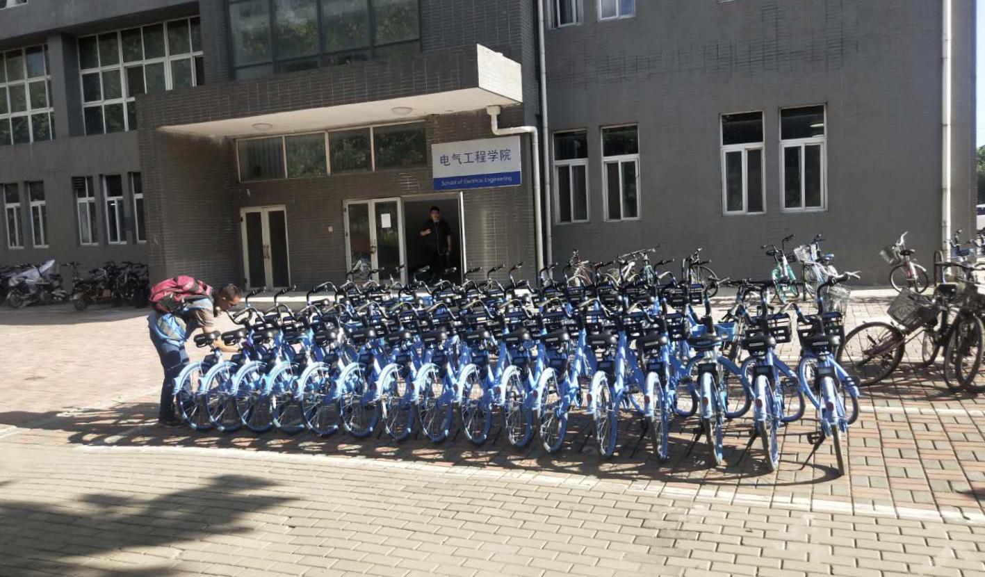 校内设置有专门的停车点,运维人员每天不间断在校内巡查,确保每个点位都有车
