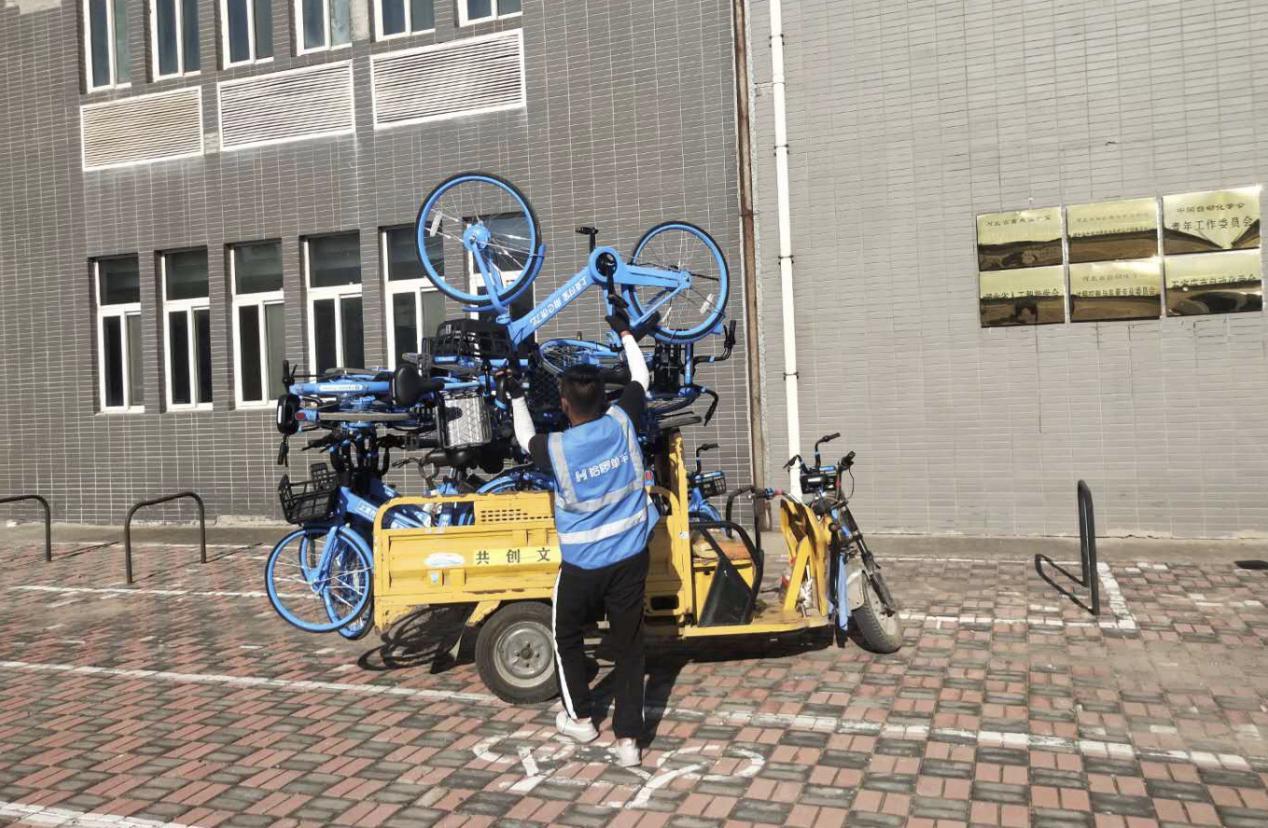 哈啰校园单车运维人员做到定人、定时,并进行了统一的核酸检测