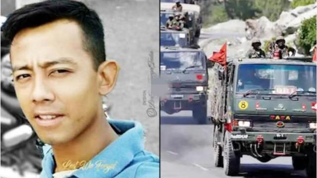 印度战车在中印边境被卡车撞翻 一军官被砸中当场身亡