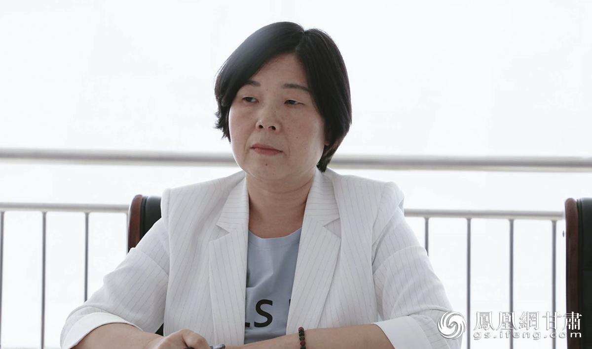 涿州北方重工设备设计有限公司总经理吴雪琳在会上发言 兰州新区商投集团供图