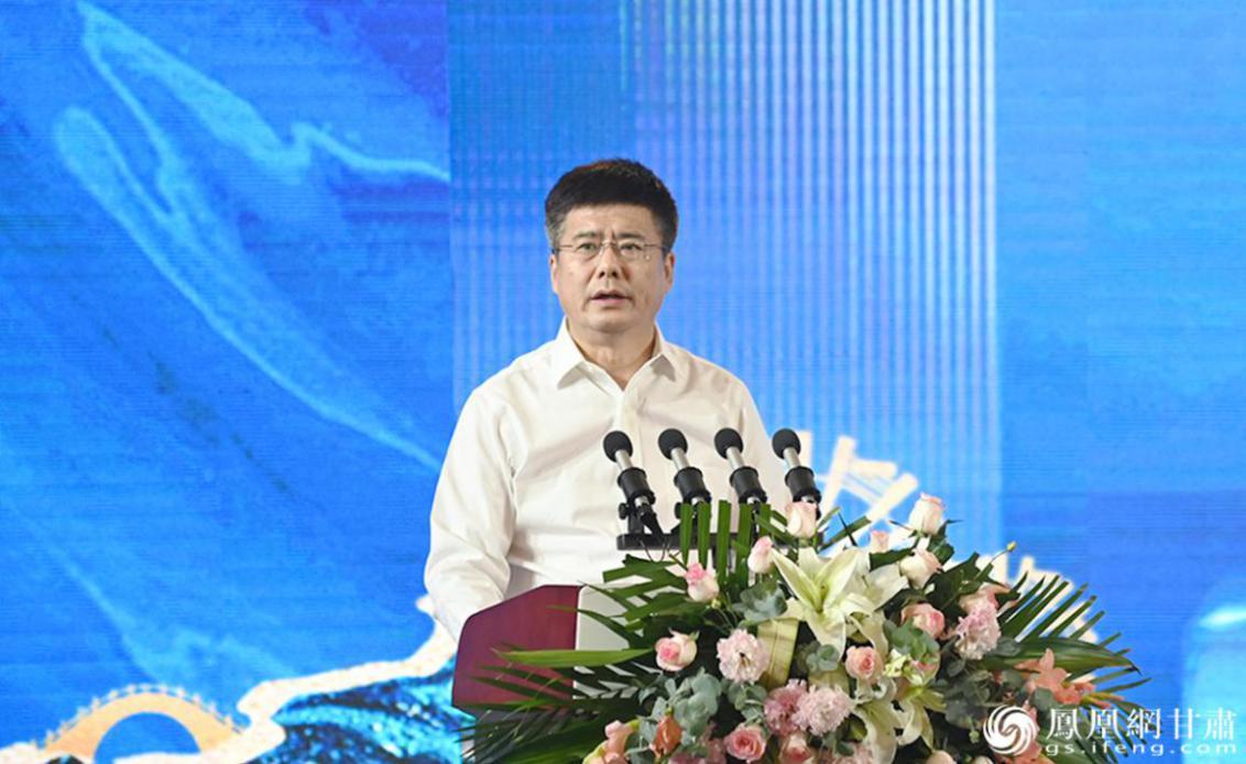 甘肃银行党委书记、董事长刘青致辞 李果繁 摄
