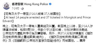 【网络营销战略】_港警通报:旺角又有人群非法集结叫嚣,14人被捕