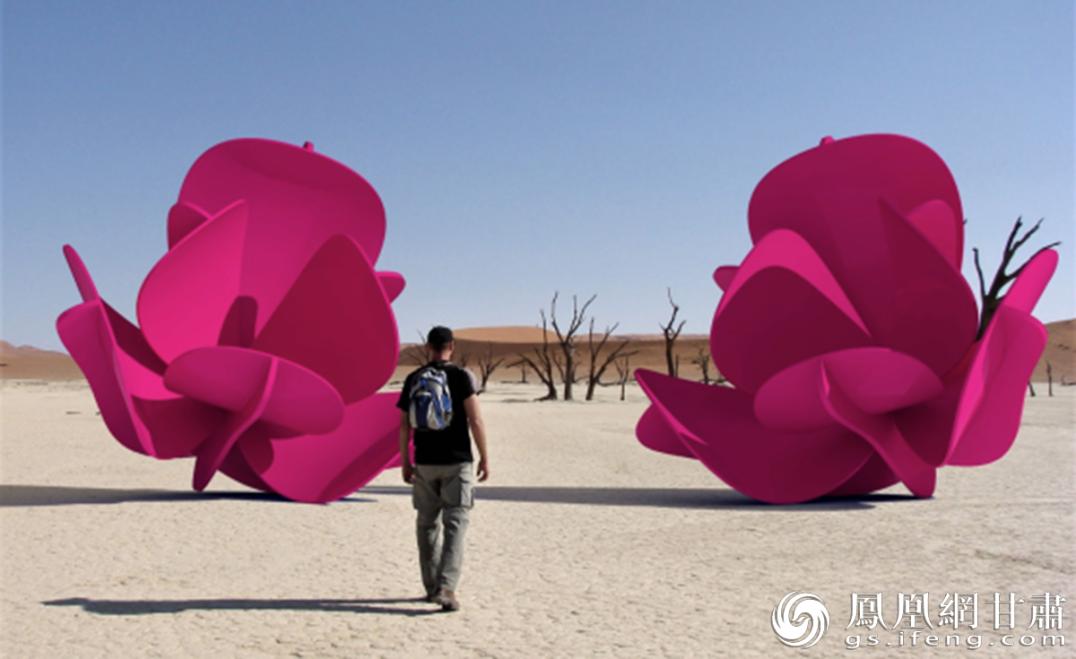 伊朗艺术家扎赫拉设计的作品《我爱自然》 武威市委宣传部供图
