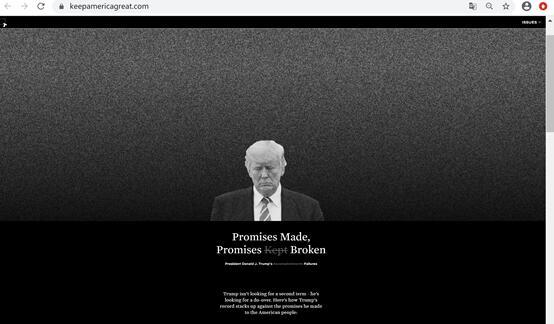 """【资阳网站优化】_拜登竞选团队买下""""让美国保持伟大""""网站域名,专门批评特朗普"""