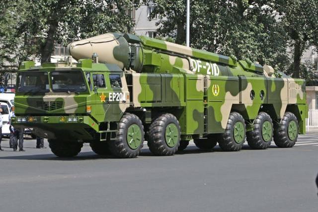 """【东风-21D反舰导弹被称为""""航母杀手""""】"""