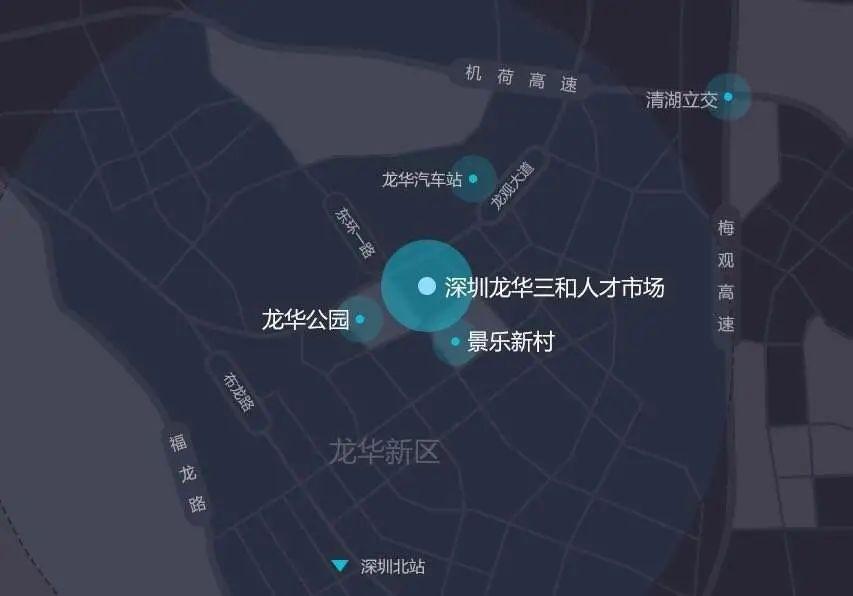 深圳三和地理位置示意图
