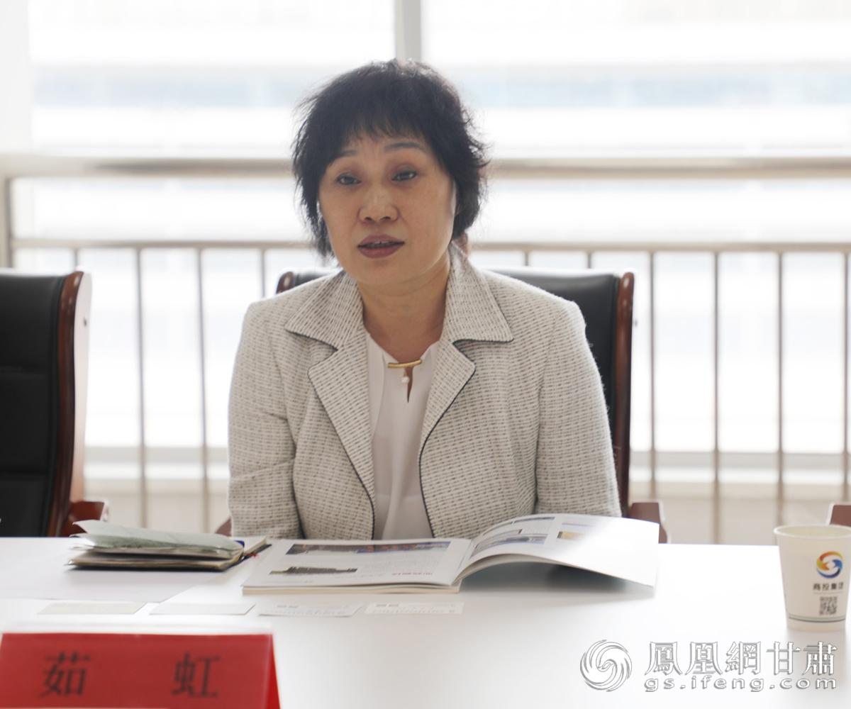 陕西省电子商务行业协会副会长茹虹在座谈会上发言 兰州新区商投集团供图