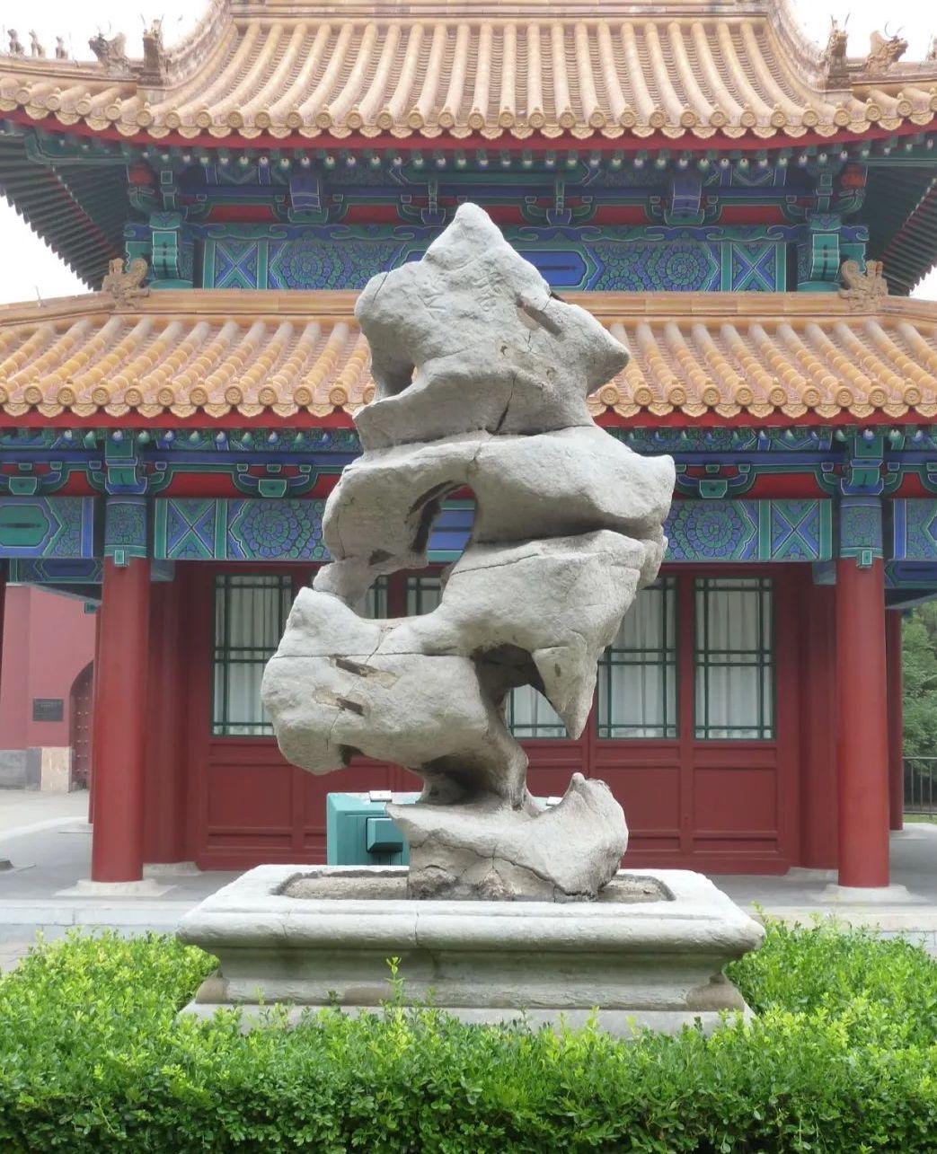 """北京中山公园太湖石峰""""搴芝"""""""