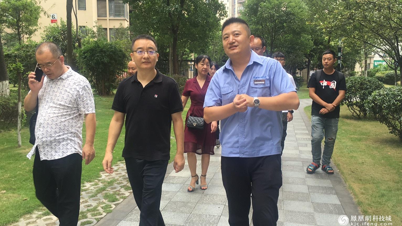 三台县司法局到高新区交流参观法治小区建设工作