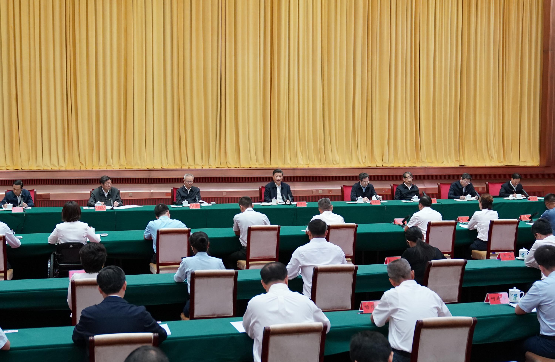 """9月17日,中共中央总书记、国家主席、中央军委主席习近平在长沙主持召开基层代表座谈会并发表重要讲话,听取基层干部群众代表对""""十四五""""规划编制的意见和建议。"""
