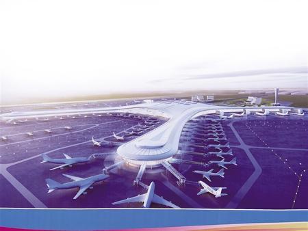 兰州中川国际机场三期扩建工程效果图