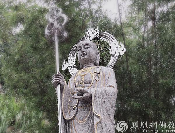 湖北咸宁洛水寺地藏菩萨圣像(图片来源:凤凰网佛教 摄影:能诚法师)