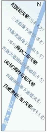 武汉晚报讯(记者杨荣峰 实习生张宝雯)3公里长的城市快速路,只有4处行人过街通道,出行十分不便,汉阳四新片区的居民对此头疼了好多年。为江城大道四新片区路段(墨水湖大桥至三环线)新建更多过街设施,是长江网武汉城市留言板上网友持续热议的话题。
