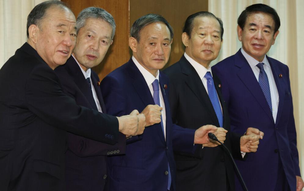 【自定义搜索】_日本自民党新高层首次集体亮相 平均年龄71.4岁