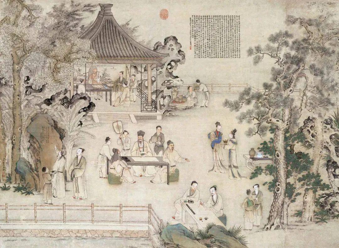 """""""西园雅集""""是一幅以苏轼为核心的北宋后期文人群像"""