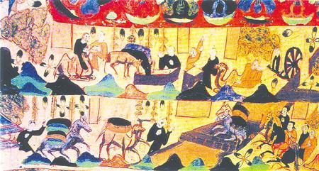 敦煌壁画上河西走廊各民族进行贸易的场景