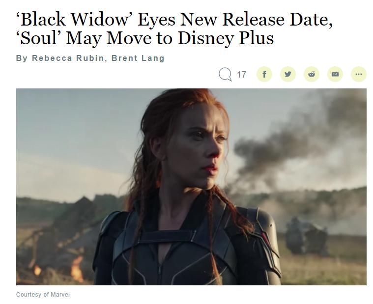 《黑寡妇》或将再次延期,原定11月6日上映