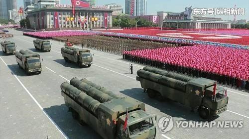 2015年10月10日,为纪念朝鲜劳动党建党70周年,朝鲜在平壤金日成广场举行盛大阅兵式。