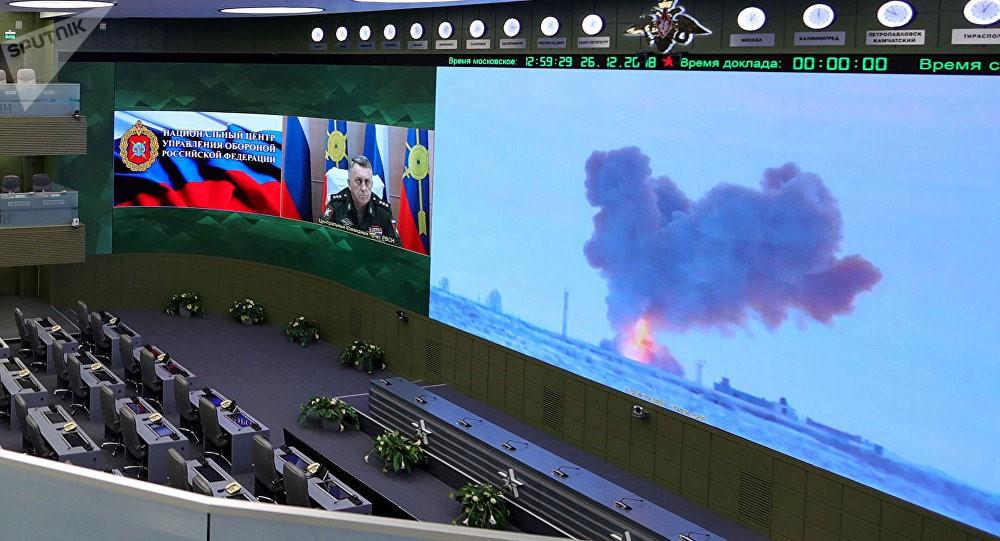 """俄试射""""先锋""""高超声速导弹。"""