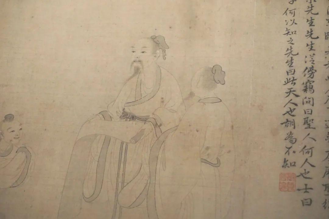 李宗谟的《东坡先生懿迹图》局部