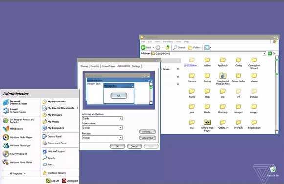 图:微软曾为Windows XP开发的Candy主题