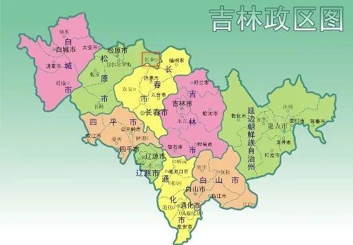 吉林政区图,红圈处为扶余市 来源:吉林省政府官网