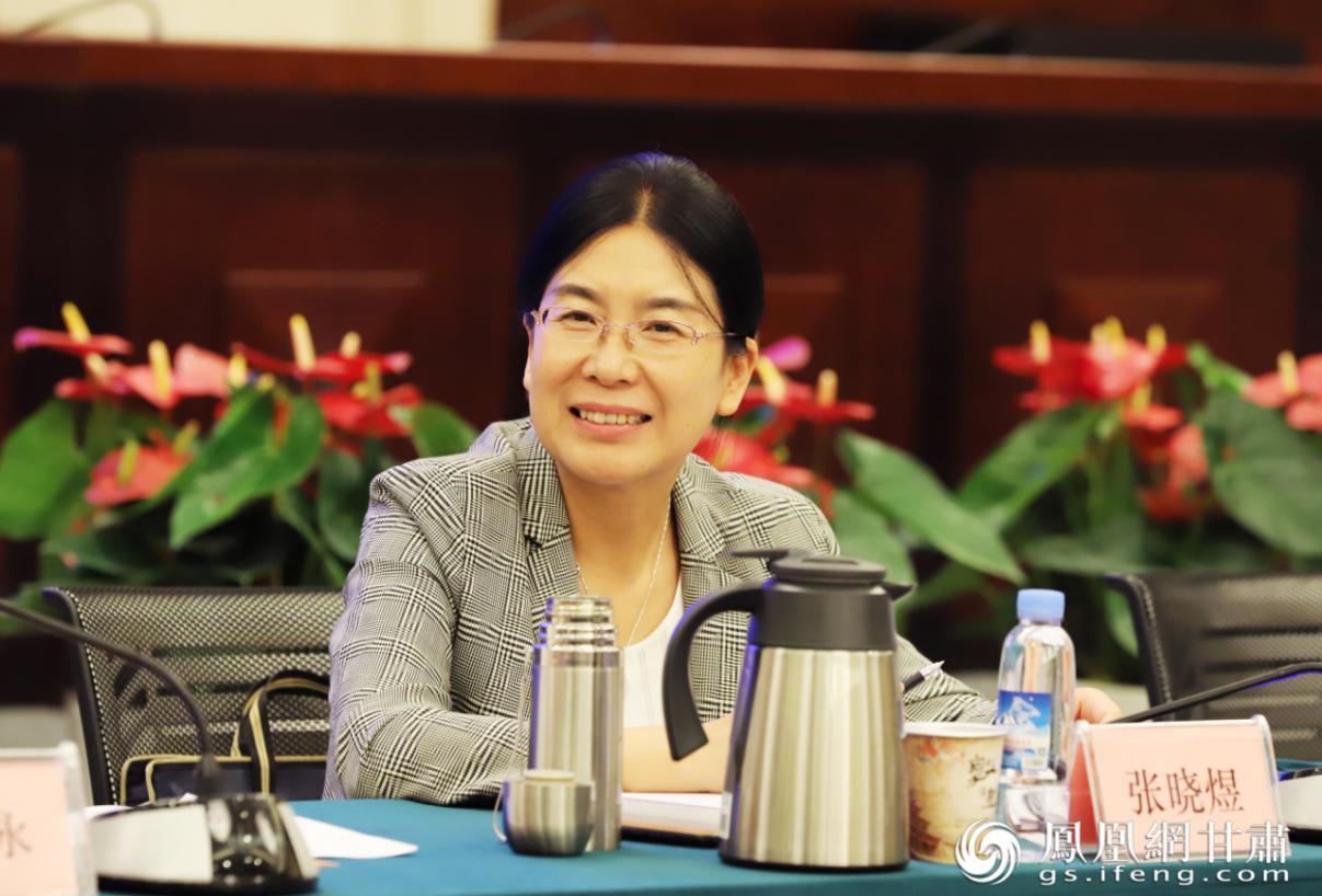 甘肃省政府国资委副主任张晓煜讲话 甘肃银行供图