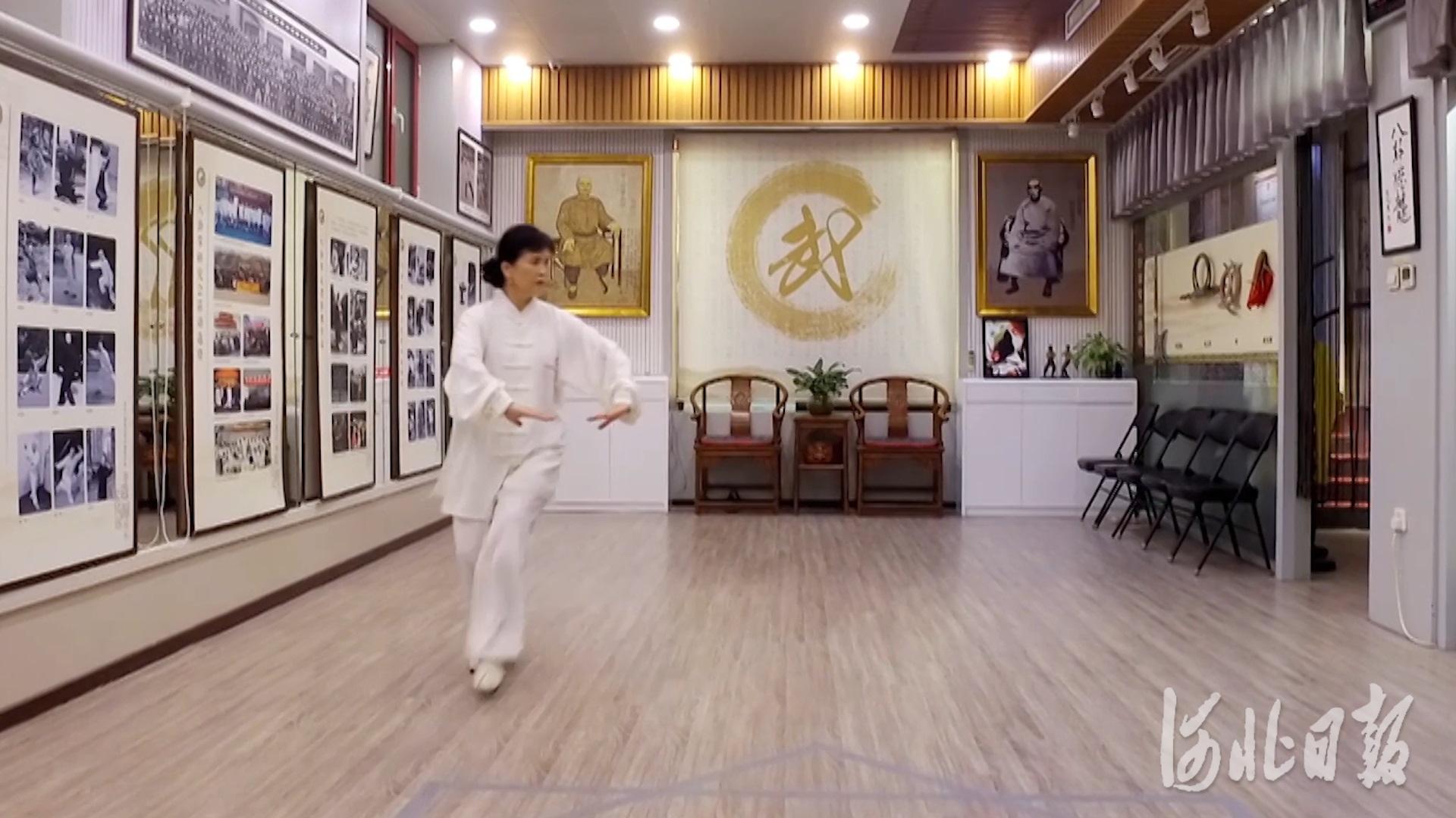电视纪录片《八卦掌的故事》视频截图。河北省影视家协会供图