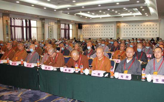 全体与会代表(图片来源:陕西省佛教协会)