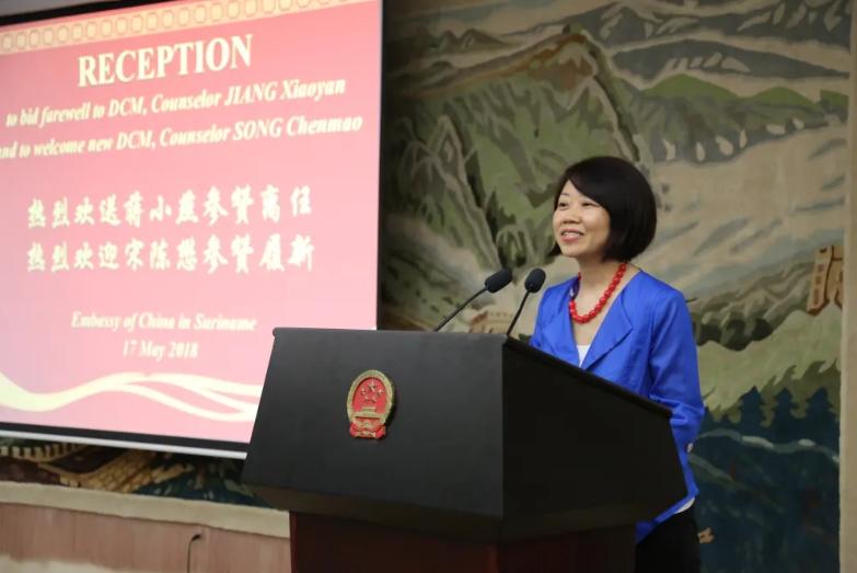 蒋小燕 图源:中国驻苏里南使馆网站