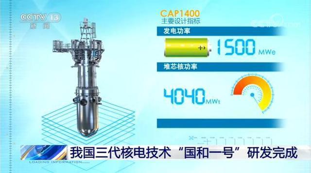 """中国三代核电技术""""国和一号""""研发完成 填补多项技术工艺空白"""