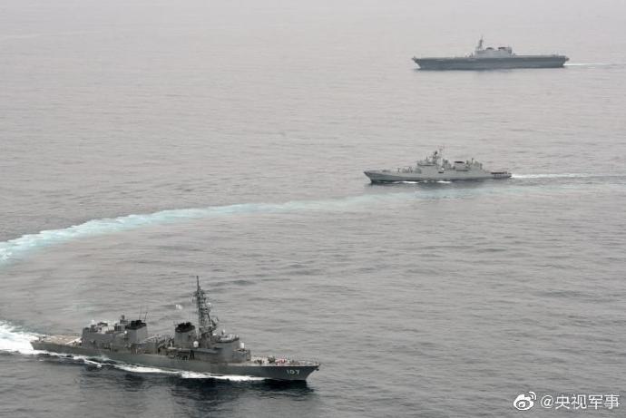 印度日本开始为期3天海上军演 多艘军舰多种战机参演