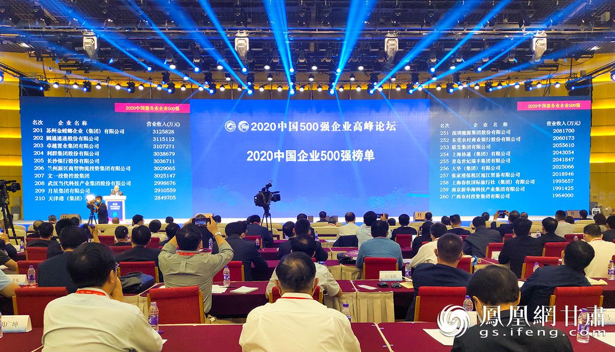 2020中国500强企业高峰论坛现场 兰州新区商投集团供图