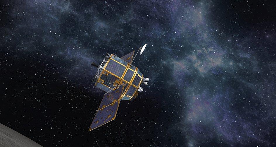韩国航空宇宙研究院发布的绕月探测器效果图