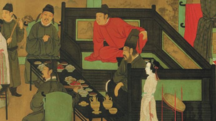 《韩熙载夜宴图》局部