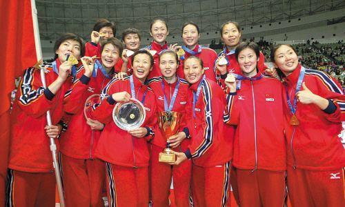 2003年,女排获世界杯冠军