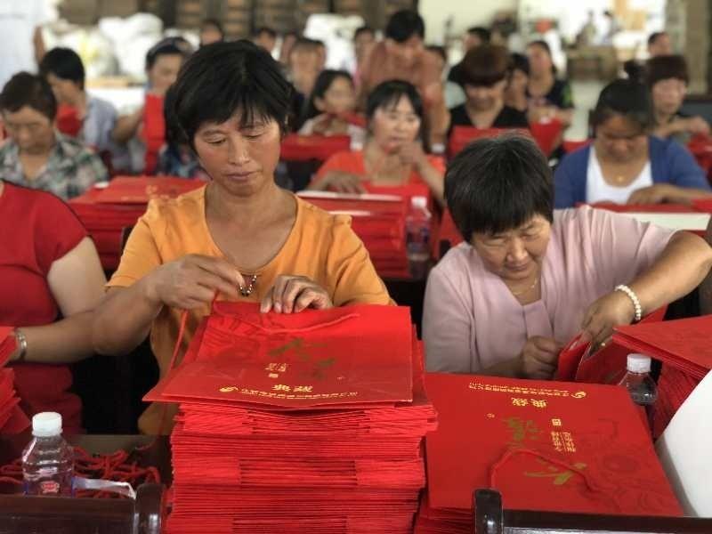 村民生产手提袋