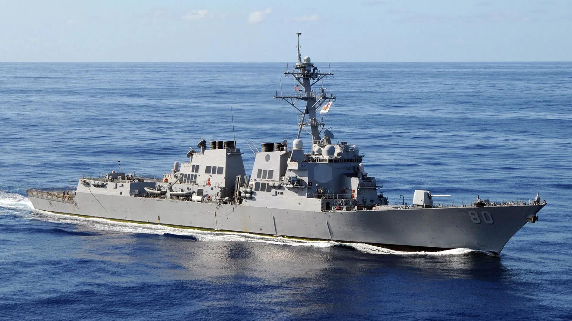 """""""阿利伯克""""级驱逐舰是目前美国海军水面作战力量的支柱"""